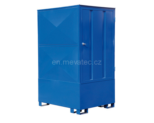 Covered trapping tub for IBC container