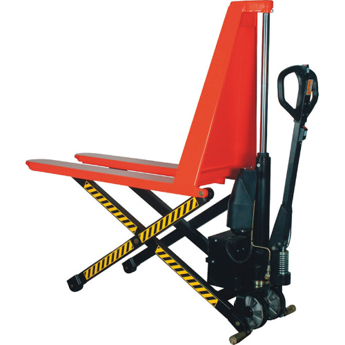 High-lift pallet truck with electric lift