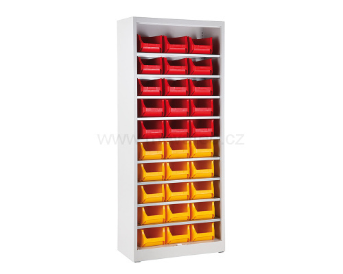 Universal cabinet with trays - without a door