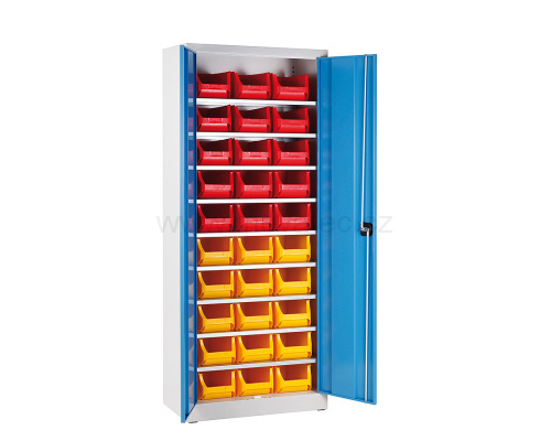 Universal cabinet with trays