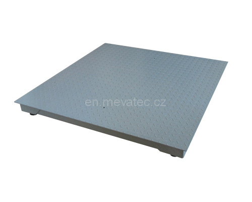 Floor scales with an indicator 1200x1000 mm up to 600 kg