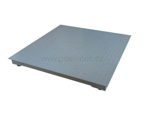 Floor scales with an indicator 1000x1000 mm up to 300 kg