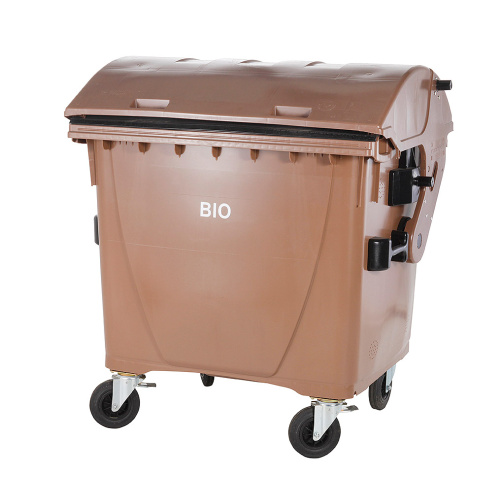 Plastic container 1100 l - brown BIO waste