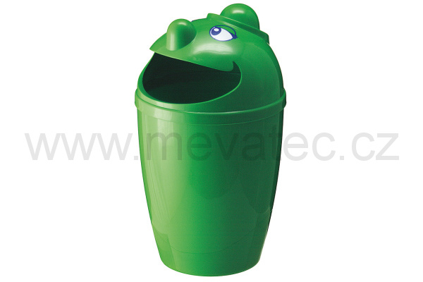 Waste bin with face - green
