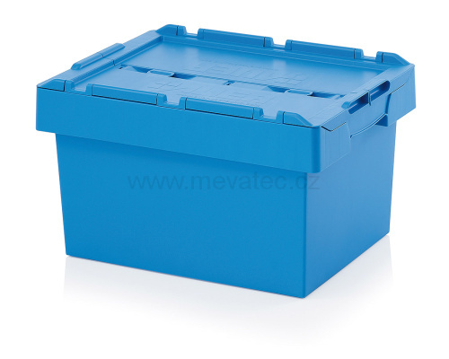 Crate with lid 600 x 400 x 340 mm