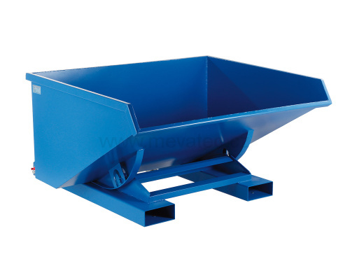 Tipping container with double bottom 900 l without wheels