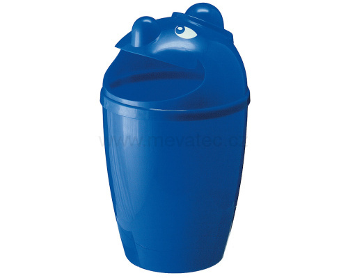 Waste bin with face - blue