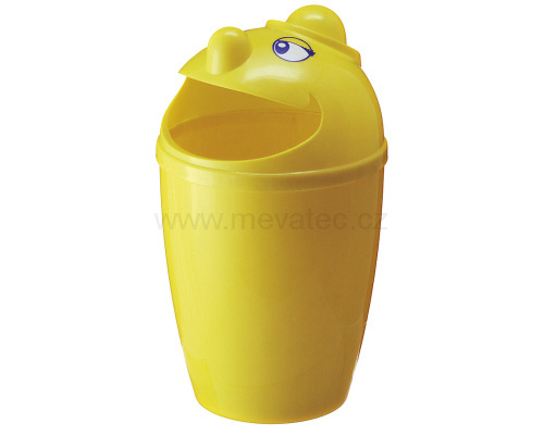 Waste bin with face - yellow