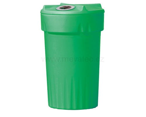 Plastic bin for waste separation - glass