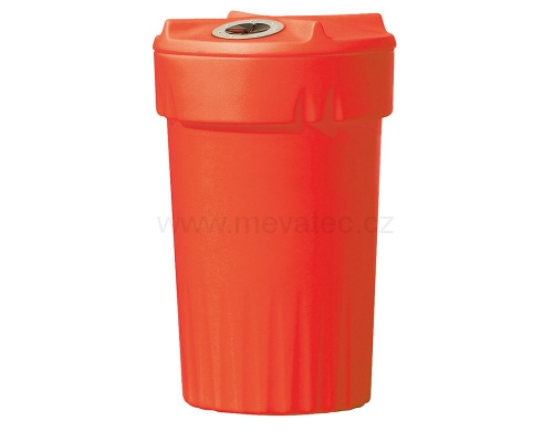 Plastic bin for waste separation