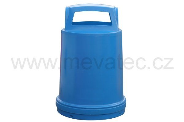Waste bin - barrel cover - blue