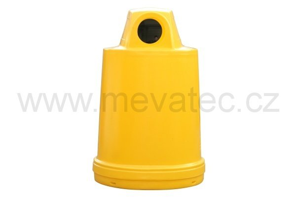 Waste bin - barrel cover - yellow