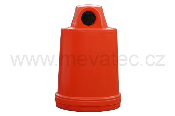 Waste bin - barrel cover - red