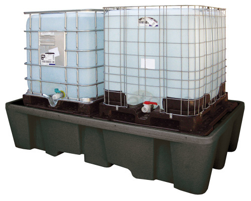 Trapping tub for 2 IBC containers