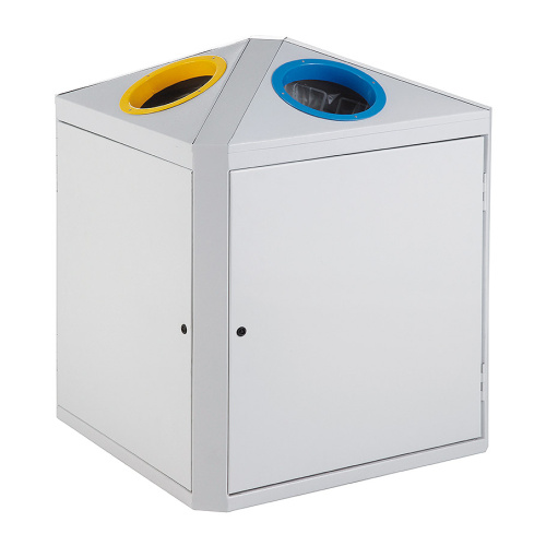 Double bin yellow / blue