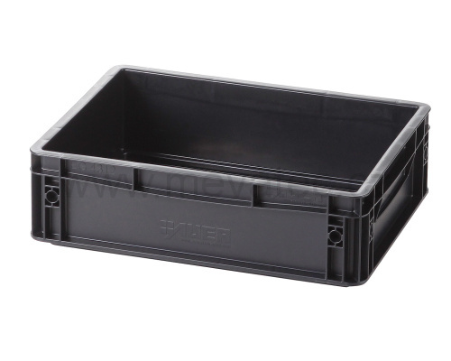 Plastic EURO crate 400x300x120mm - ESD
