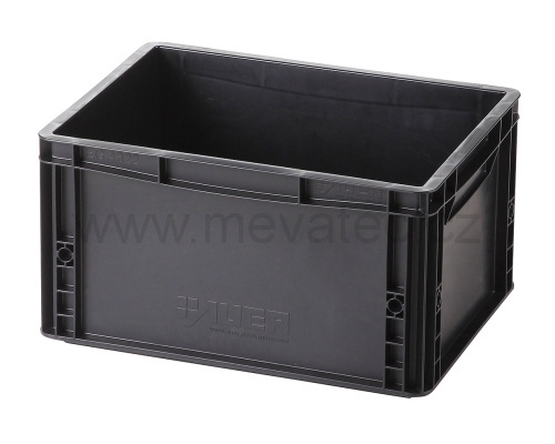 Plastic EURO crate 400x300x220mm - ESD
