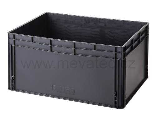Plastic EURO crate 800x600x420 mm - ESD