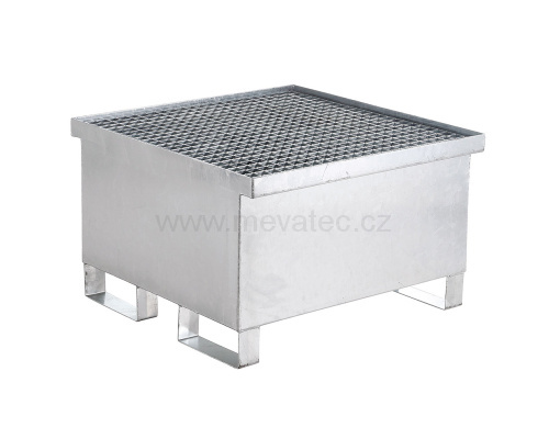 Trapping tub for one barrel - zinc