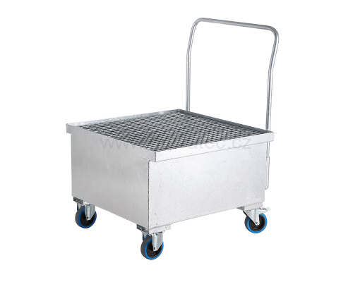 Mobile trapping tub for one barrel - zinc