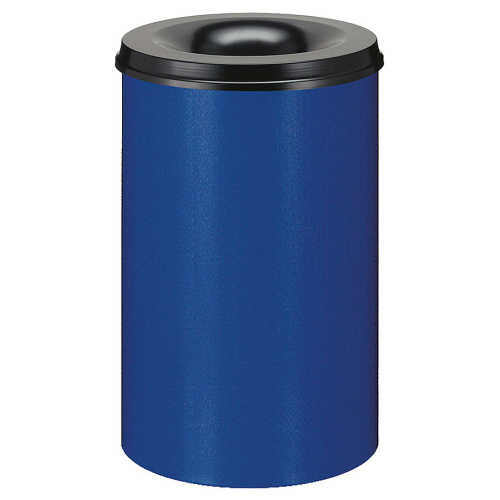 Self-extinguishing bin 30 l - blue and black