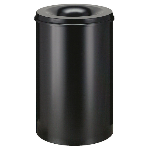 Self-extinguishing bin 30 l - black and black