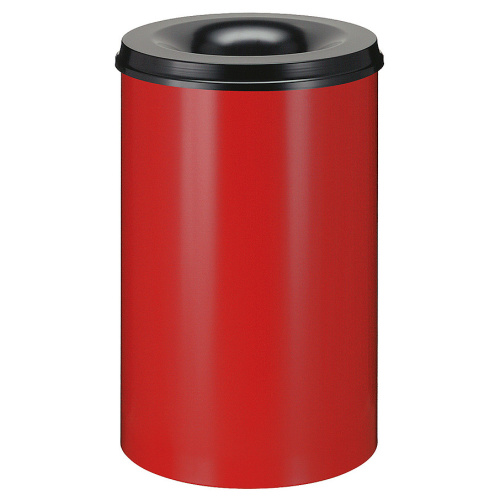 Self-extinguishing bin 30 l - red and black