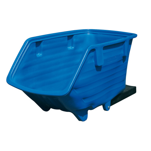 Plastic tipping container - coulisses