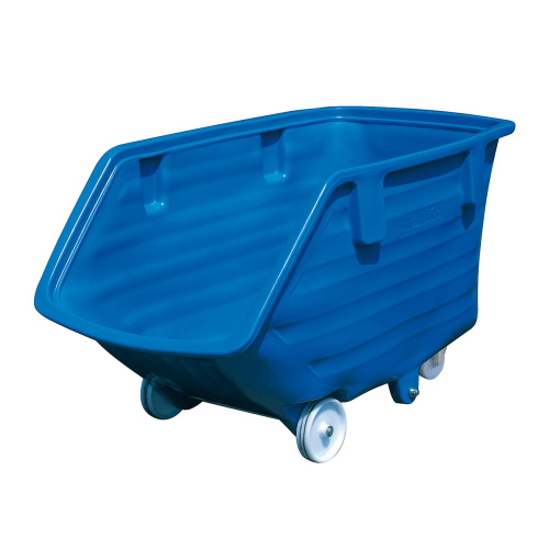 Plastic tipping container - wheels