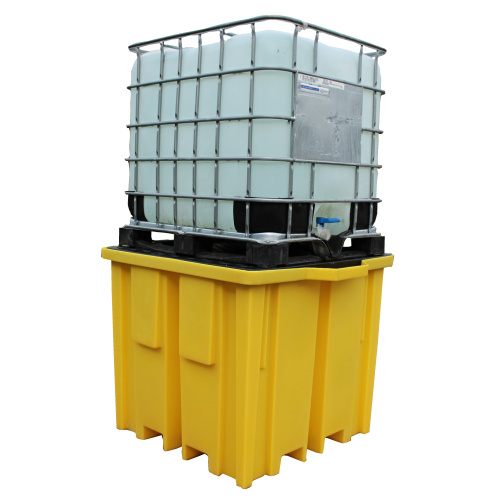 Trapping tub for IBC container