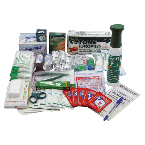 First-aid box contents - production