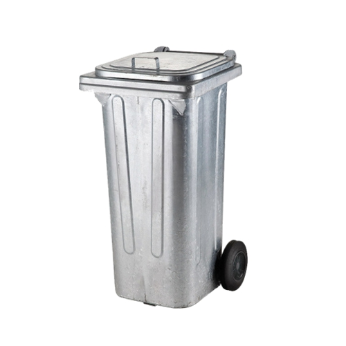 Metal bin with wheels 120 l