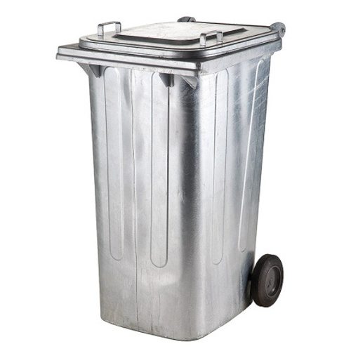 Metal bin with wheels 240 l