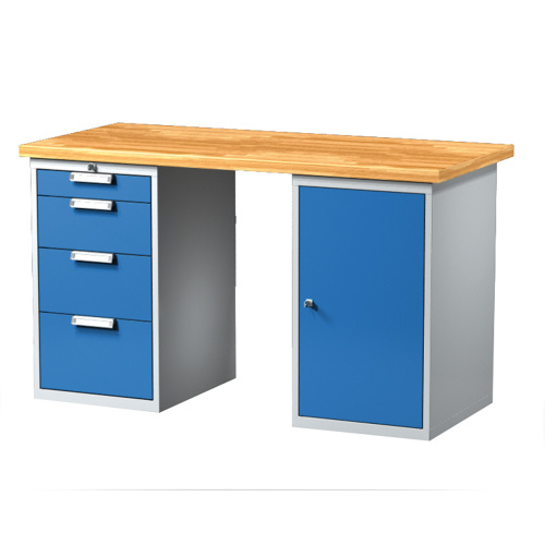 Work table with container and drawer boxes 1500 mm