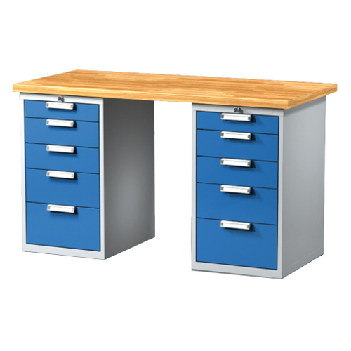 Work table with drawer containers 1500 mm
