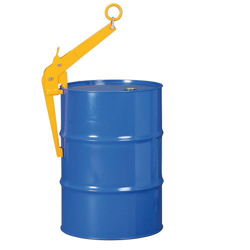 Hook for vertical handling of barrels