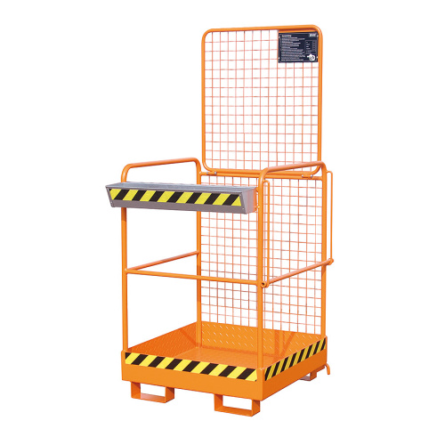 Safety platform for a fork-lift truck