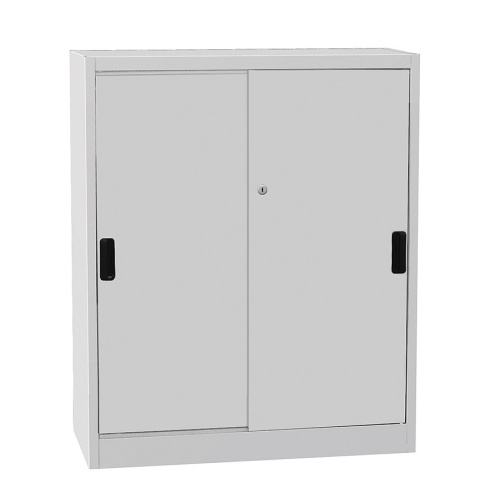 Universal cabinet with a sliding door