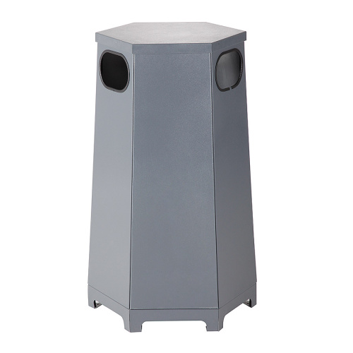 Outdoor waste bin - hexagon