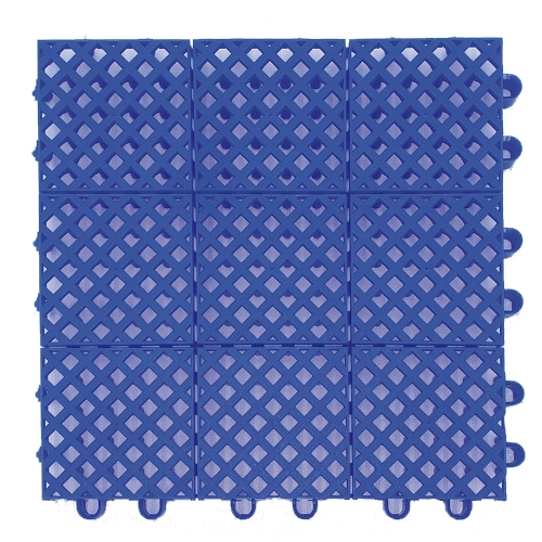 Plastic mat 245x245x15mm - blue