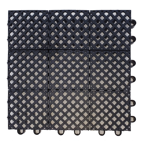Plastic mat 245x245x15mm - black