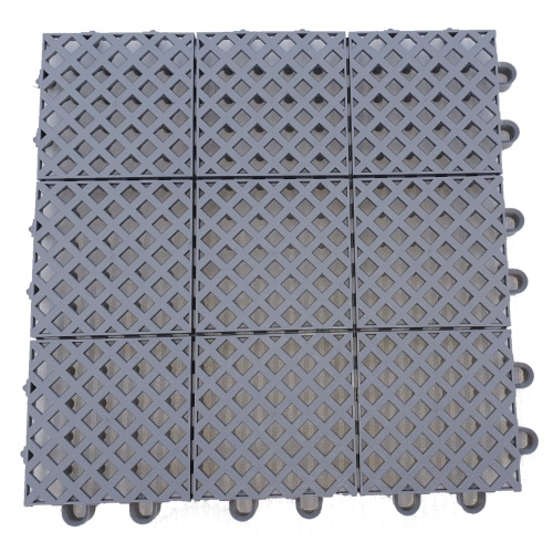 Plastic mat 245x245x15mm  - grey