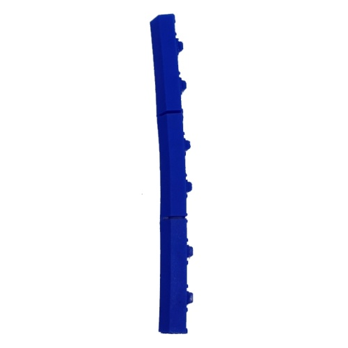 Plastic mat end piece with pins - blue