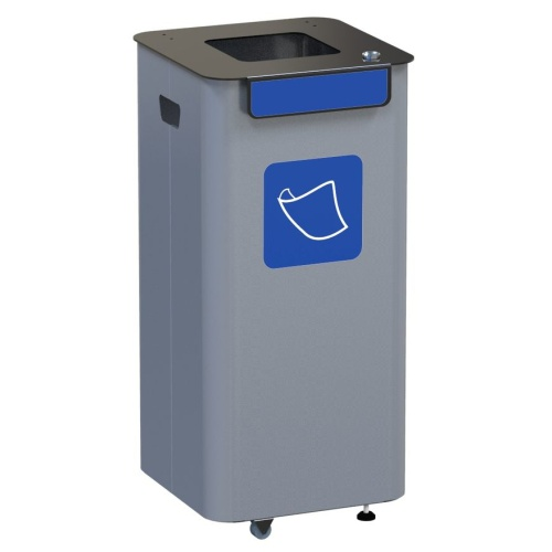 Outdoor waste bin - blue