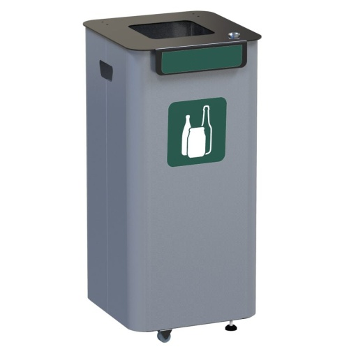 Outdoor waste bin - green
