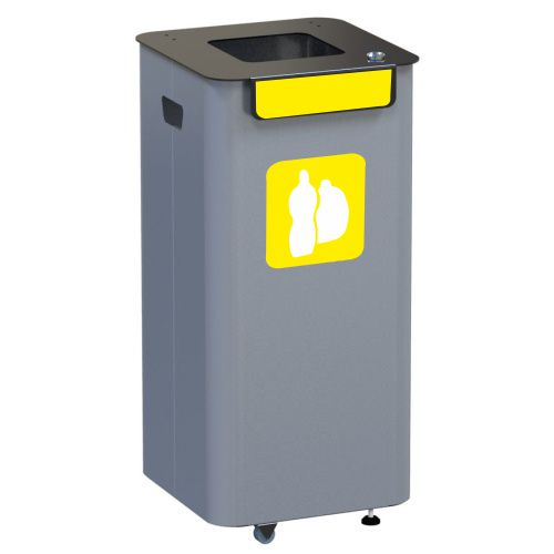 Outdoor waste bin - yellow