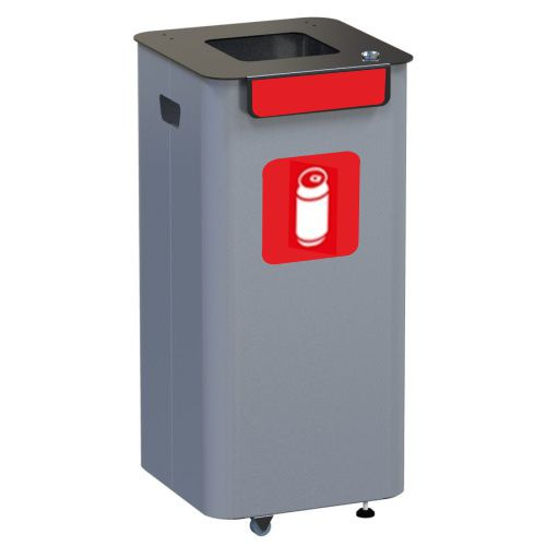 Outdoor waste bin - red