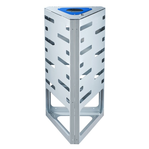 "Waste bin ""triangle"" - blue - without roof"