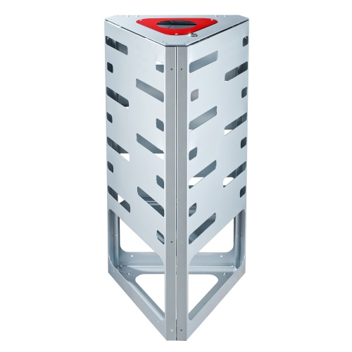 "Waste bin ""triangle"" - red - without roof"