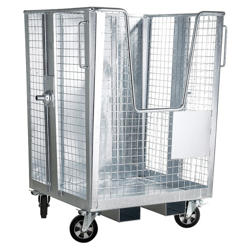 Wire mesh box with a fork-lift truck adapter - 1700 l.